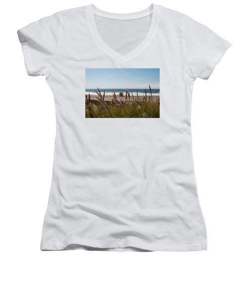 Through The Reeds Women's V-Neck (Athletic Fit)