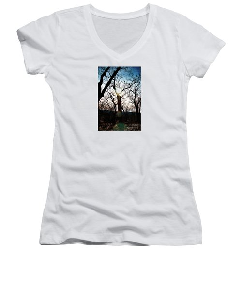 Through The Trees Women's V-Neck (Athletic Fit)