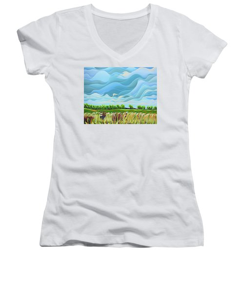 Thunder Sky Women's V-Neck