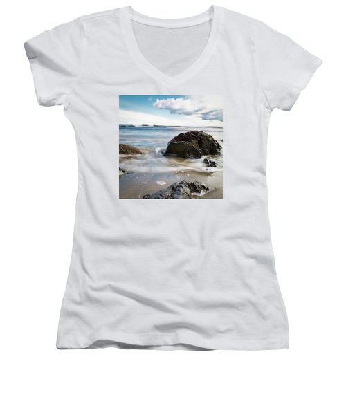 Tide Coming In #2 Women's V-Neck (Athletic Fit)