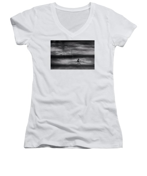 Women's V-Neck T-Shirt (Junior Cut) featuring the photograph Til Spring by Mark Fuller