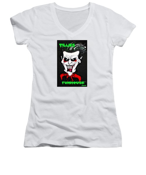 Tillies Vamp Women's V-Neck T-Shirt (Junior Cut)