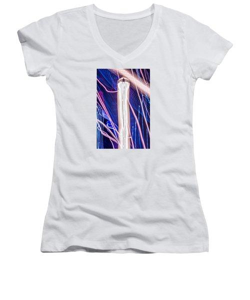 Time Dilation  Women's V-Neck T-Shirt
