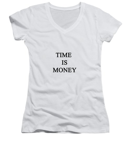 Time Is Money Women's V-Neck (Athletic Fit)