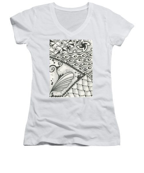Time Marches On Women's V-Neck T-Shirt