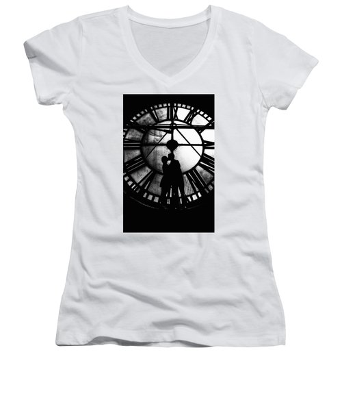 Timeless Love - Black And White Women's V-Neck
