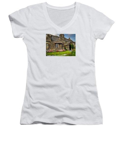 Tintagel Cottage Women's V-Neck T-Shirt