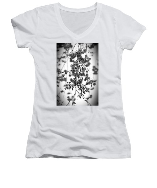Tiny Buds And Blooms Women's V-Neck (Athletic Fit)