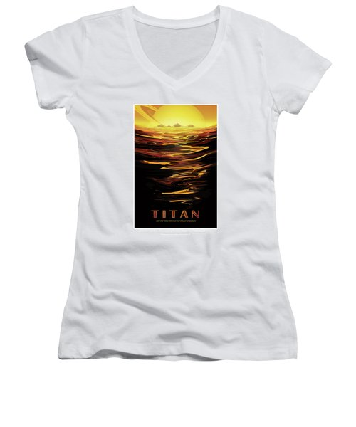 Titan - Ride The Tides Through The Throat Of Kraken - Vintage Na Women's V-Neck (Athletic Fit)