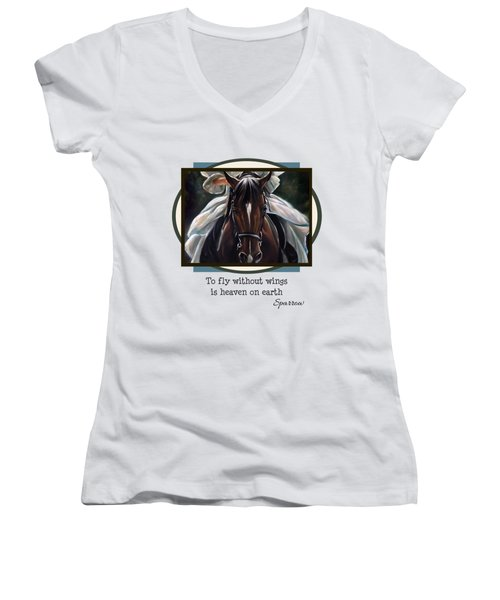 To Fly Without Wings Women's V-Neck T-Shirt