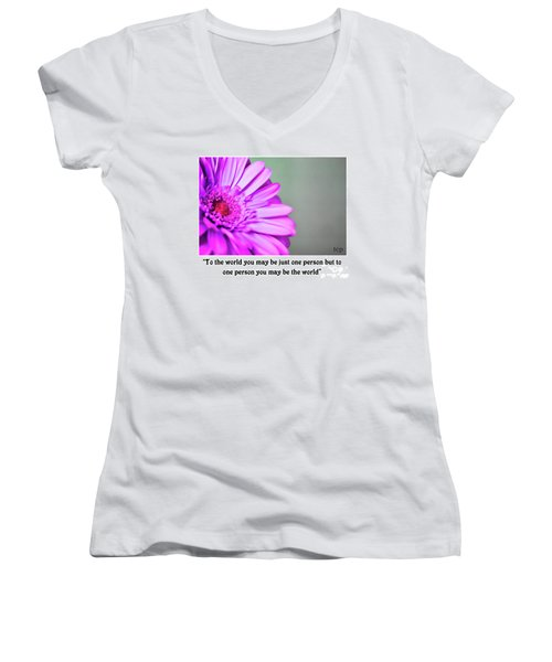 To The World Women's V-Neck (Athletic Fit)