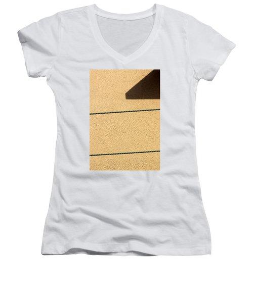 Together Yet Apart Women's V-Neck T-Shirt (Junior Cut) by Prakash Ghai