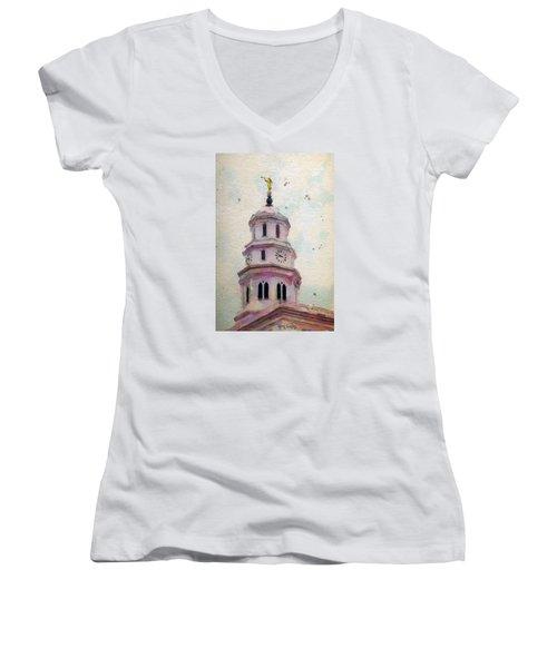 Tollel Maja Women's V-Neck T-Shirt (Junior Cut) by Greg Collins