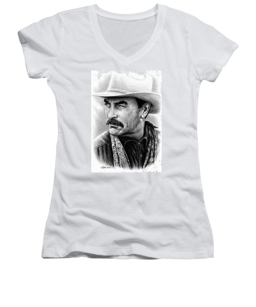 Tom Selleck As Monty Walsh Women's V-Neck (Athletic Fit)