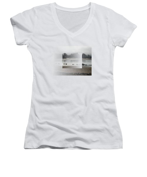 Women's V-Neck featuring the painting Too Early Out by Ivana