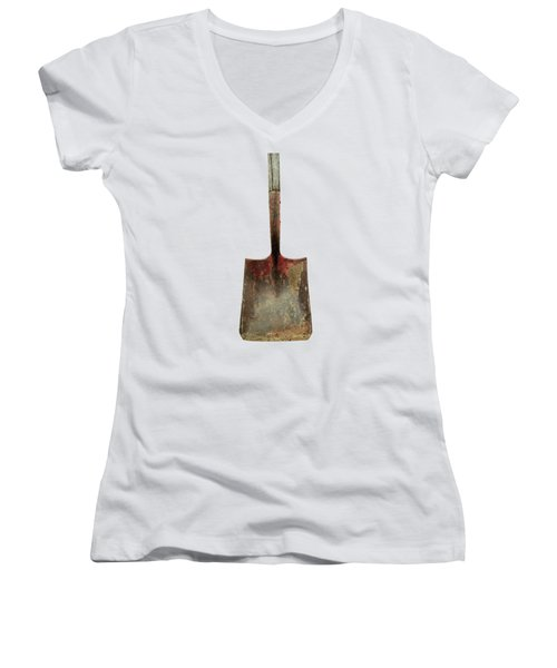 Tools On Wood 3 On Bw Plywood Women's V-Neck (Athletic Fit)