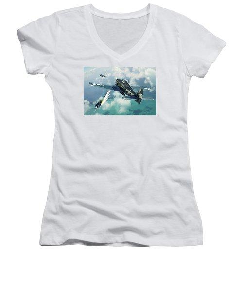 Top Cover Women's V-Neck T-Shirt
