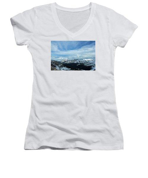Top Of The Rockies Women's V-Neck