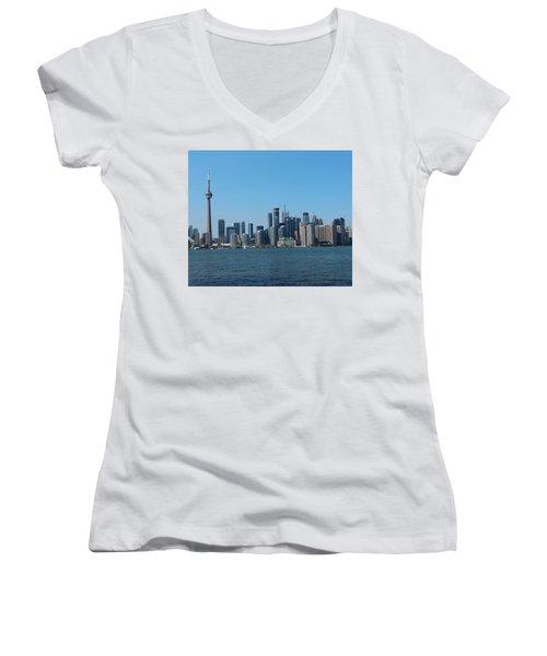Toronto Cityscape Women's V-Neck
