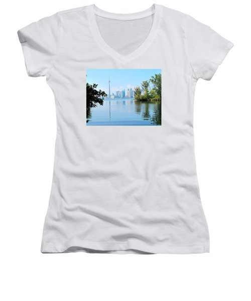 Toronto From The Islands Park Women's V-Neck T-Shirt