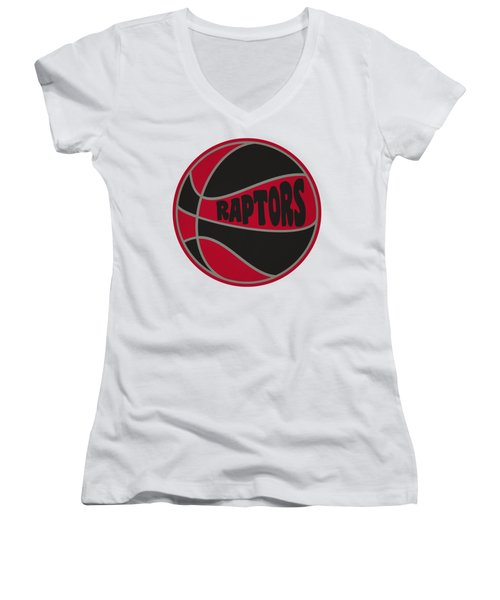 Toronto Raptors Retro Shirt Women's V-Neck T-Shirt (Junior Cut) by Joe Hamilton