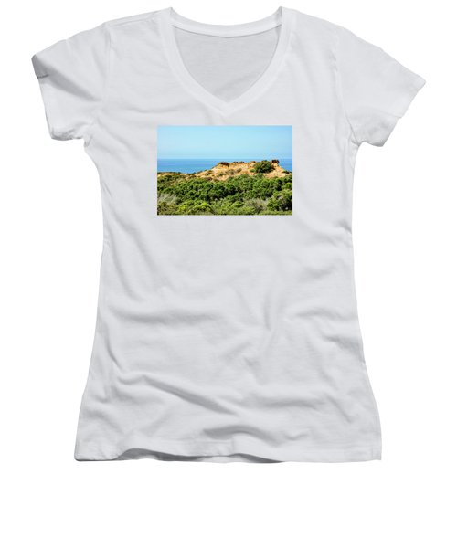 Torrey Pines California - Chaparral On The Coastal Cliffs Women's V-Neck