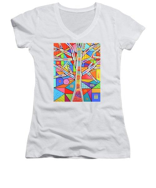 Totem Tree Women's V-Neck T-Shirt