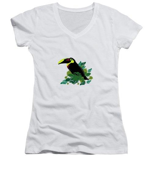 Toucan Women's V-Neck T-Shirt