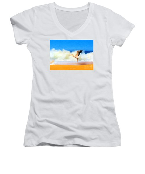 Touch Down Women's V-Neck