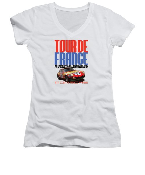 Tour De France Porsche Women's V-Neck (Athletic Fit)