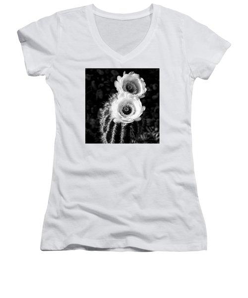 Tourch Cactus Bloom Women's V-Neck