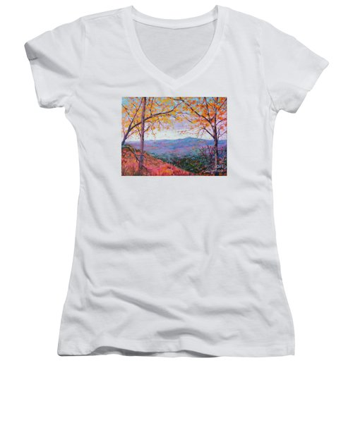 Toward Blue Ridge Women's V-Neck (Athletic Fit)