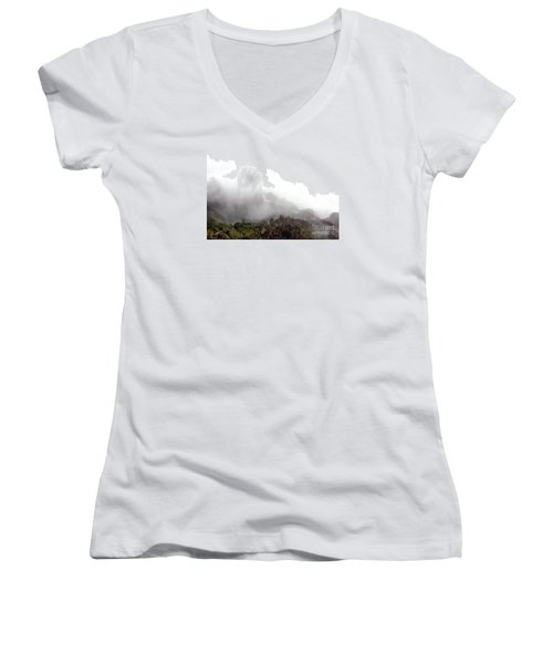 Women's V-Neck T-Shirt (Junior Cut) featuring the photograph Watch The Clouds Roll By by Dana DiPasquale