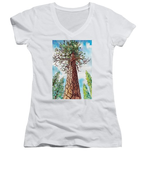 Towering Ponderosa Pine Women's V-Neck