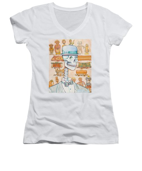 Toy Bones Women's V-Neck