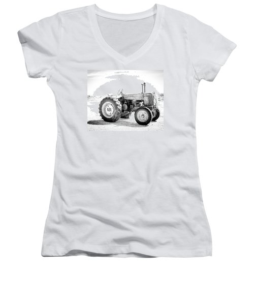 Tractor Women's V-Neck (Athletic Fit)