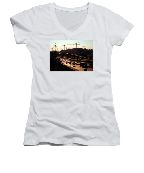 Traffic And Cranes Women's V-Neck