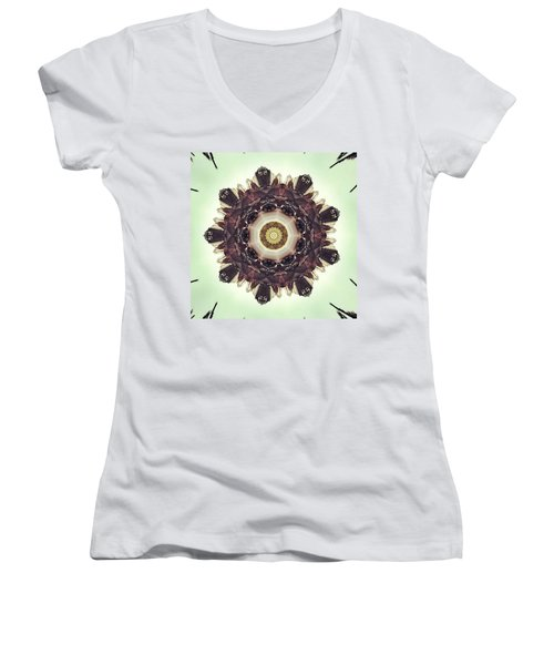 Traffic On The Road Women's V-Neck T-Shirt (Junior Cut) by Jorge Ferreira