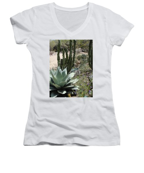 Trail Of Cactus Women's V-Neck (Athletic Fit)