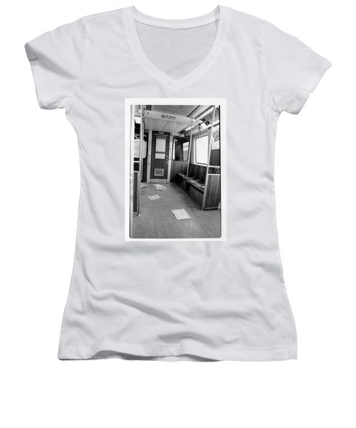 Train Car  Women's V-Neck (Athletic Fit)