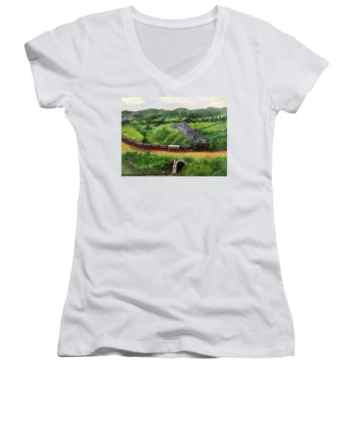 Train In The Country Women's V-Neck T-Shirt