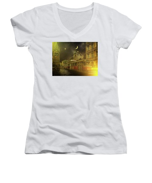 Tramatic - Prague Street Scene Women's V-Neck