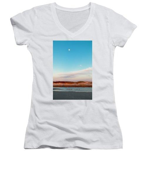 Tranquil Heaven Women's V-Neck T-Shirt