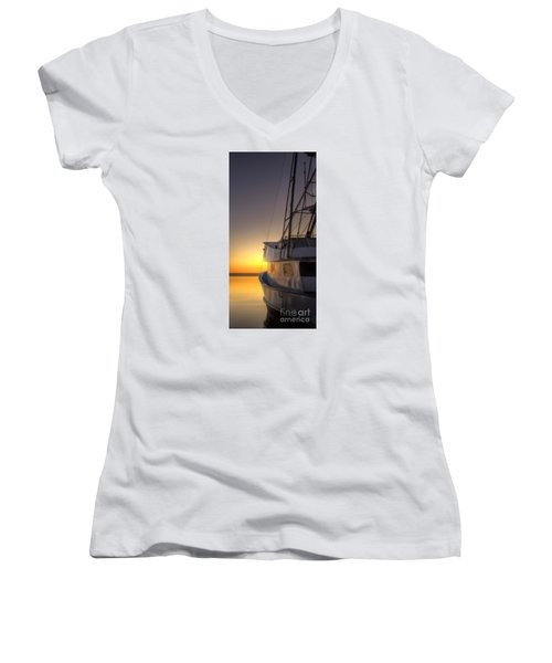 Tranquility On The Bay Women's V-Neck