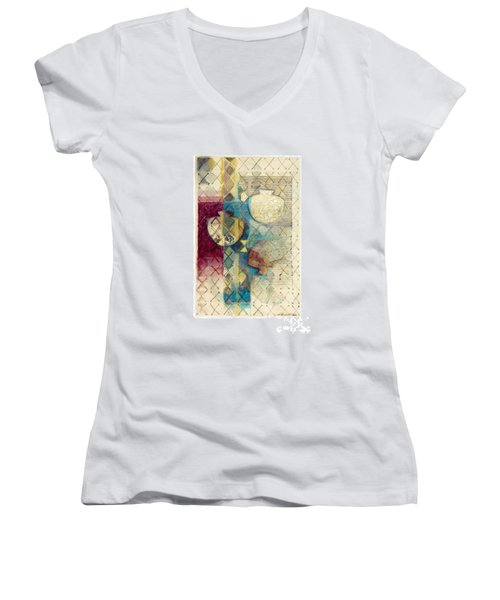 Trans Xs No 1 Women's V-Neck T-Shirt (Junior Cut)