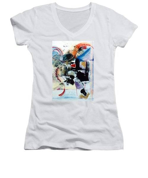 Transcendance  Women's V-Neck T-Shirt (Junior Cut)