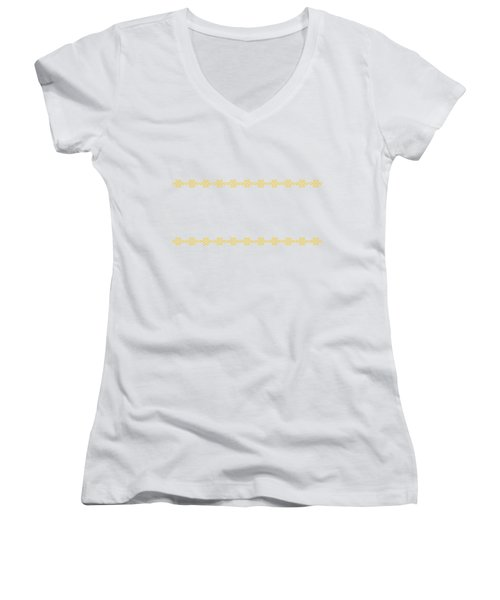 Treasure Knot In Yellow Women's V-Neck (Athletic Fit)