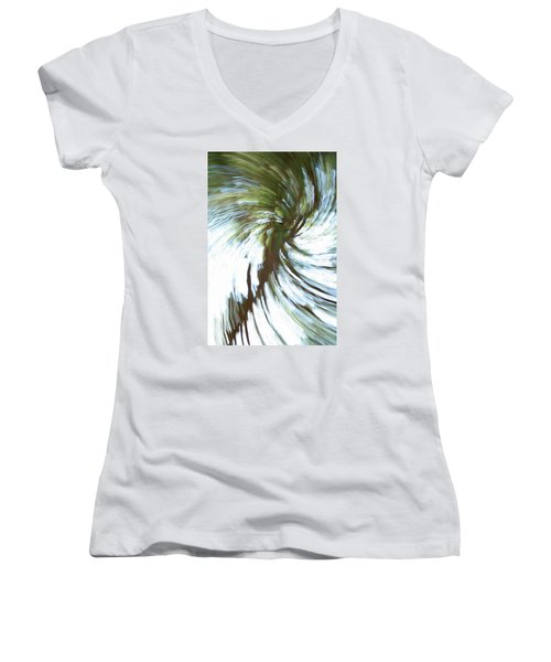 Tree Diptych 1 Women's V-Neck (Athletic Fit)