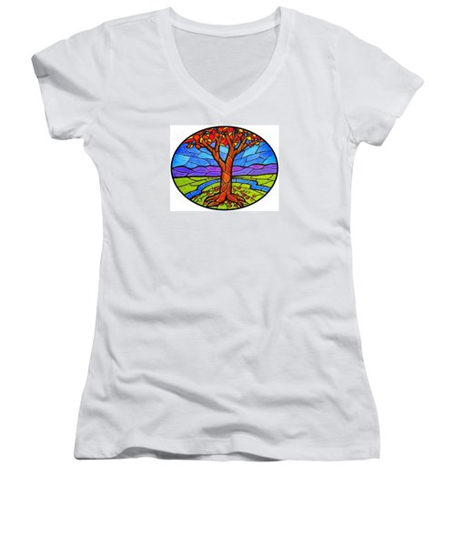 Tree Of Grace - Autumn Women's V-Neck (Athletic Fit)