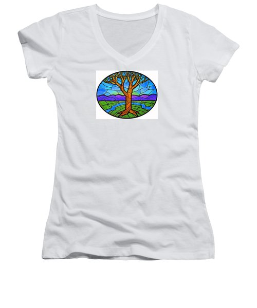 Tree Of Grace - Spring Women's V-Neck (Athletic Fit)